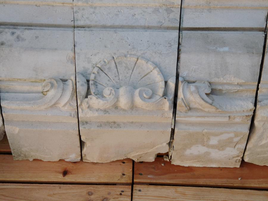 Hand carved antique lintels in limestone