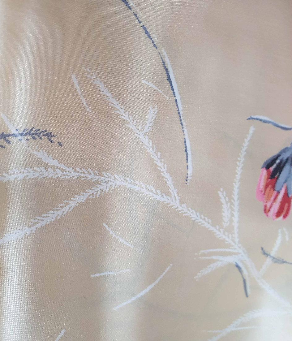 1950's Cream Floral Scarf