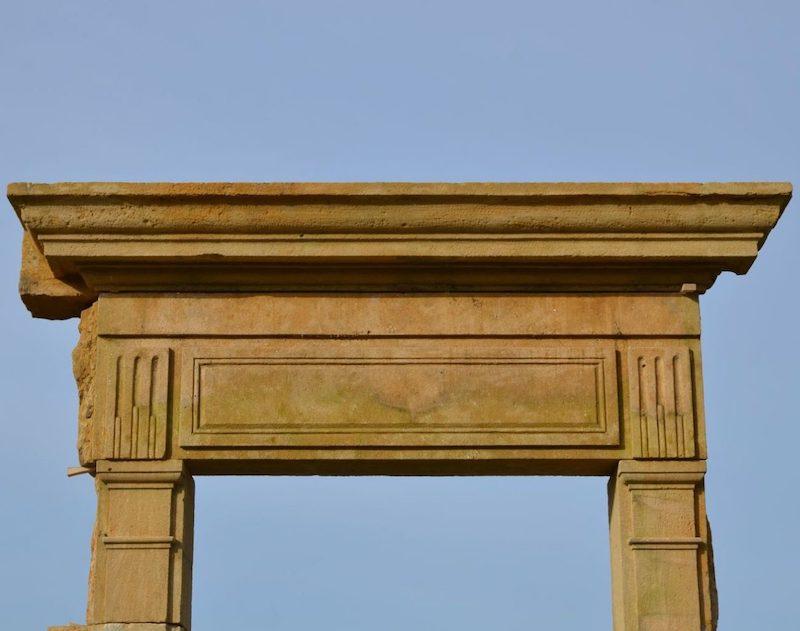Antique French limestone door surround