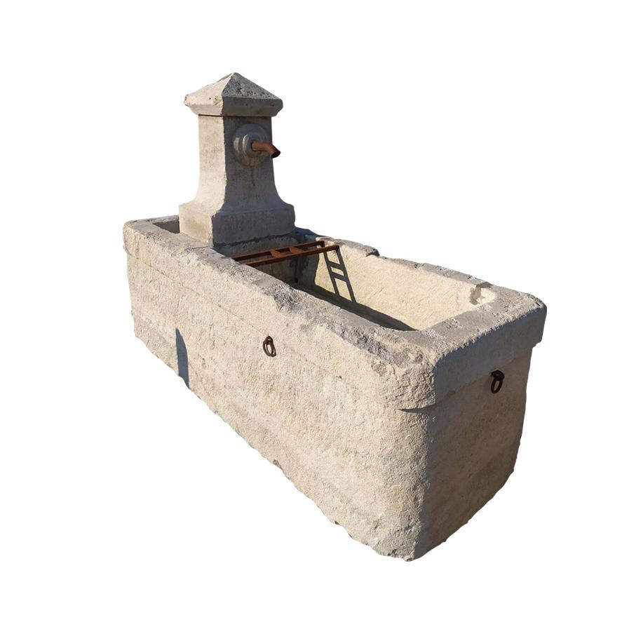 Antique trough fountain with double spout