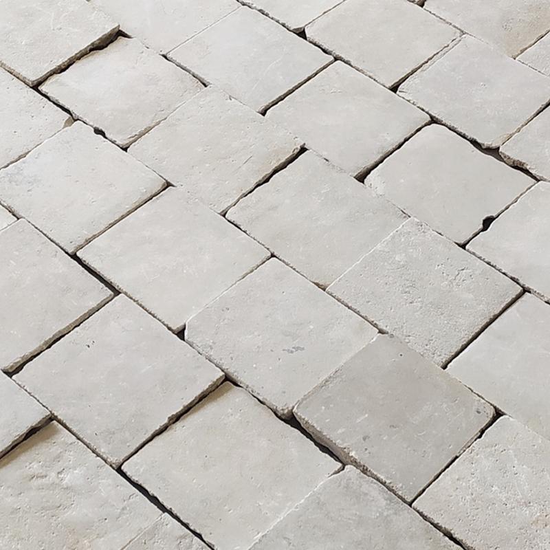 Antique reclaimed Caen limestone floor