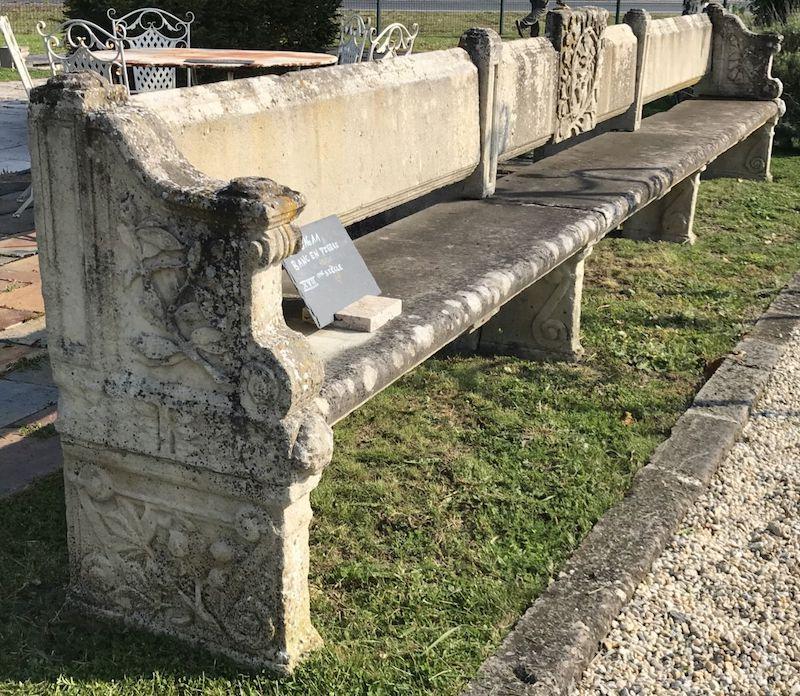 Cardinal Richelieu's limestone bench