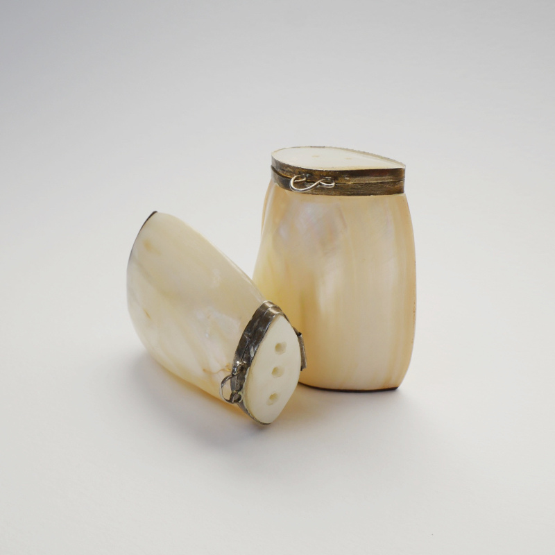 Mother of pearl salt and pepper shakers
