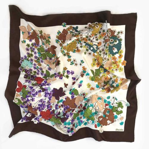 Floral Fiorio 70's Silk Scarf