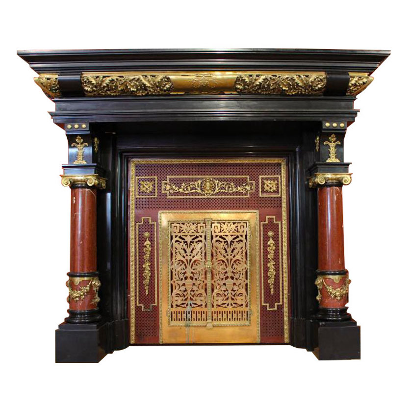Antique French fireplace in Empire style