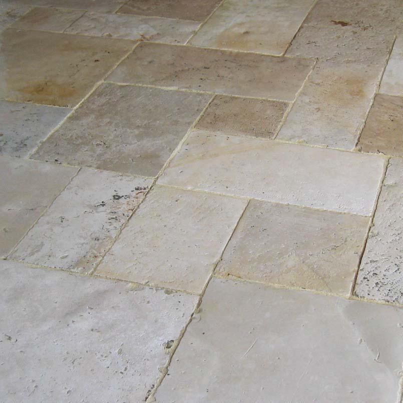 Reclaimed antique limestone flagstones