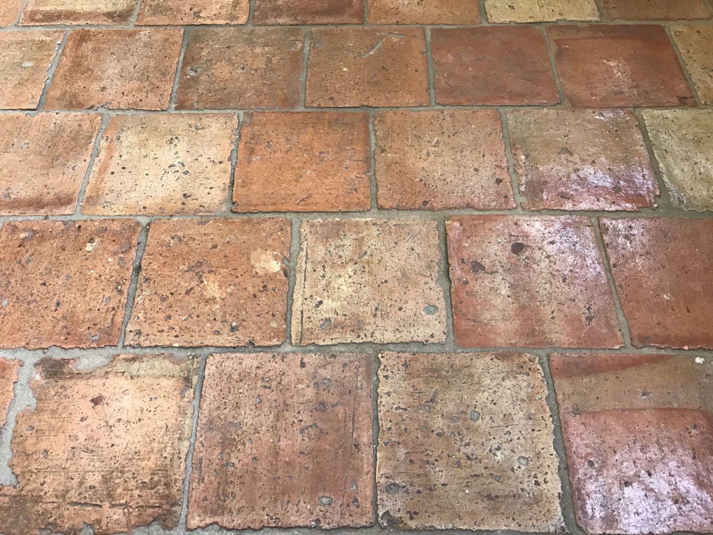 Antique French terracotta tiles 16x16cm