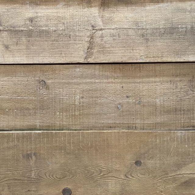 Reclaimed wide pine boards – brush-sanded