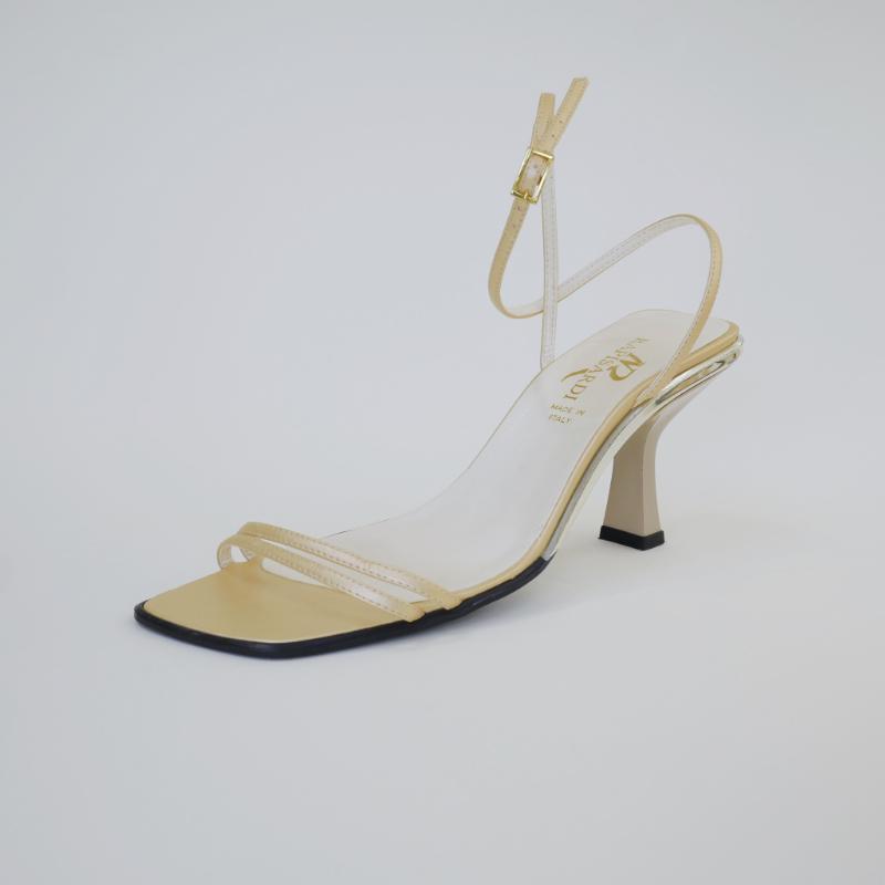 Vintage Italian gold leather sandals